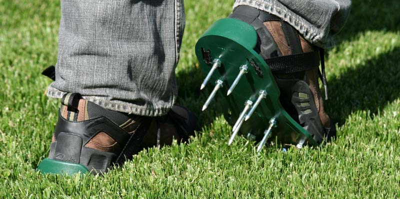 Aerating Your Customers' Lawns