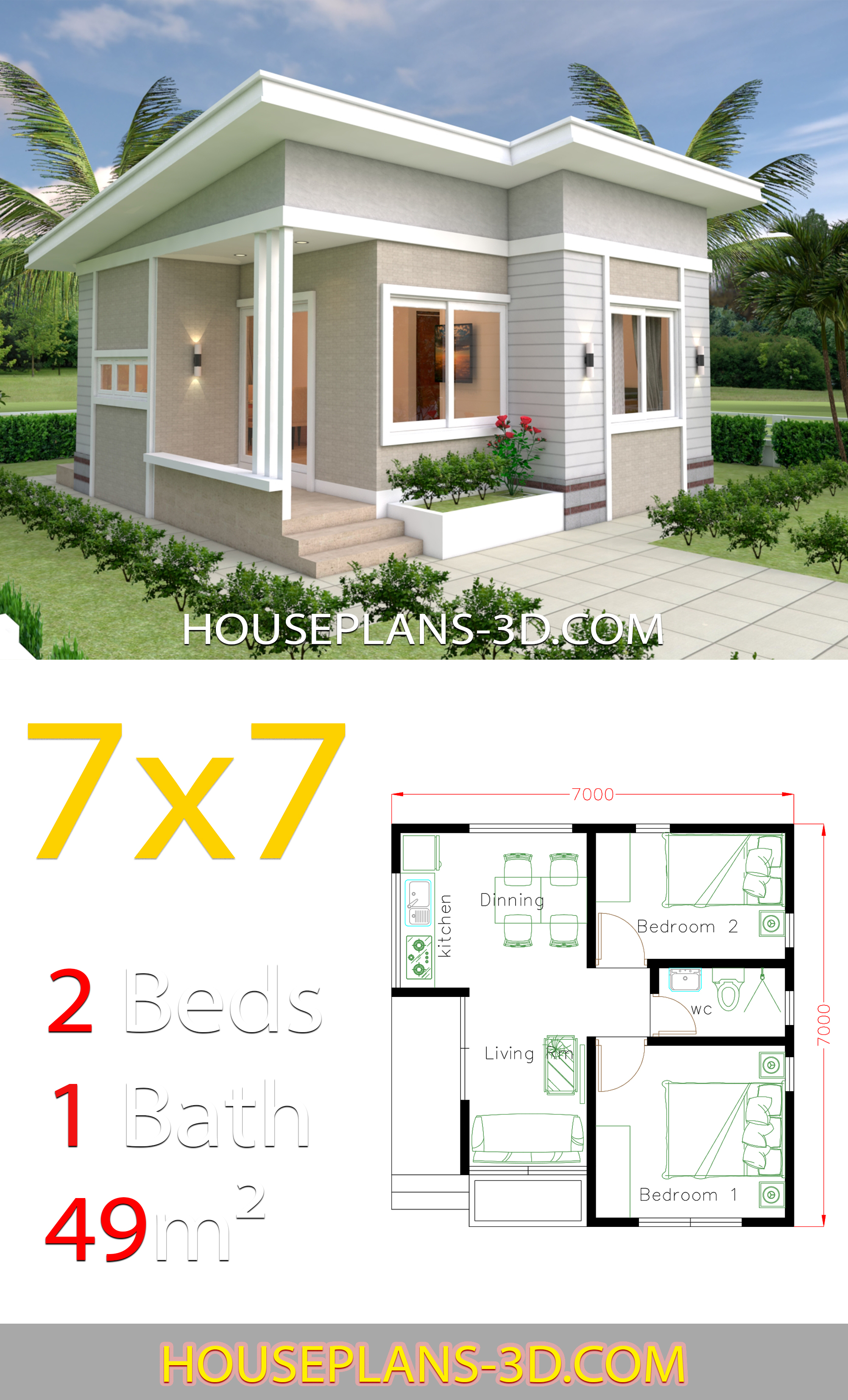 Small House Design Plans 7x7 With 2