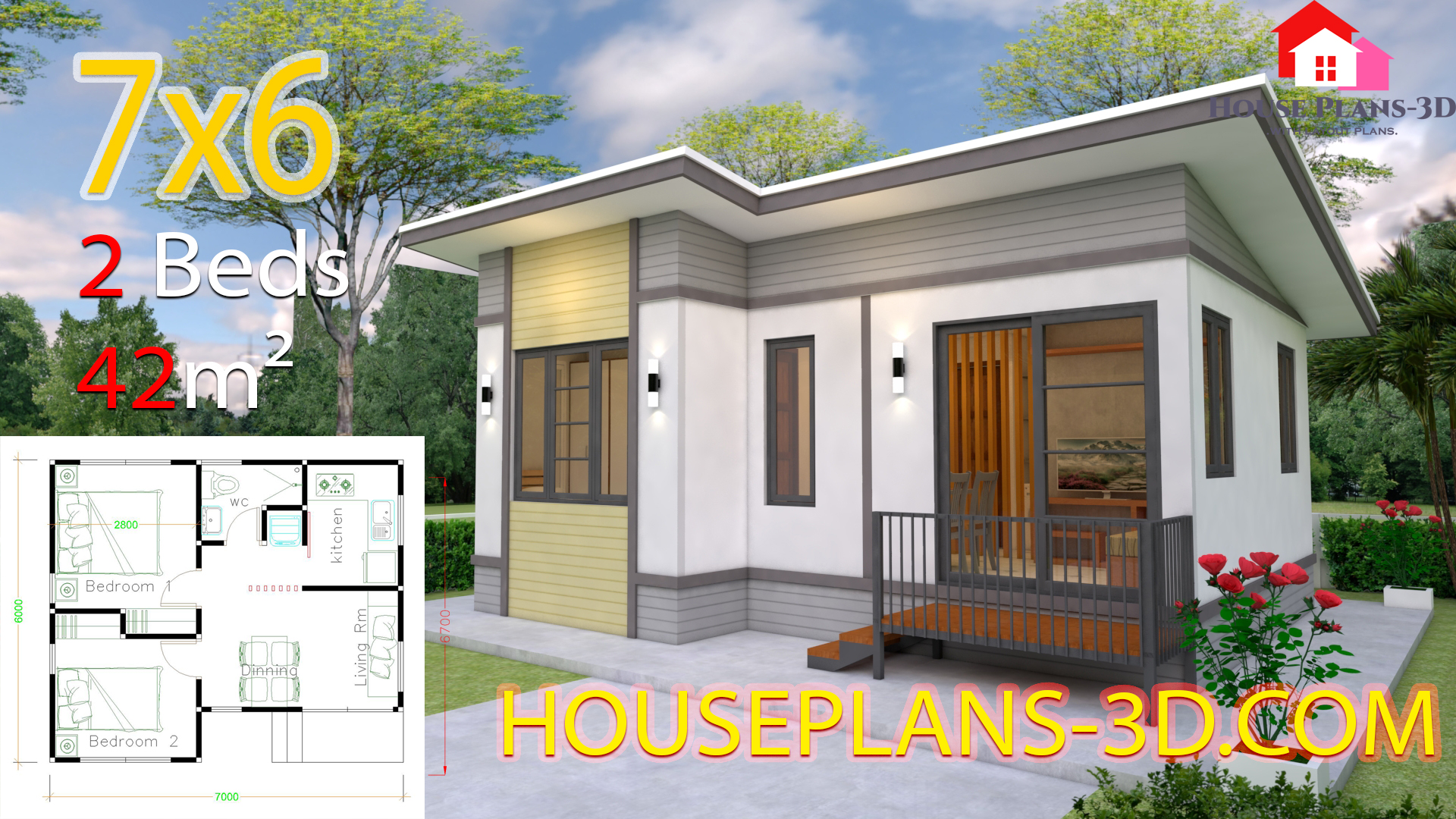 Small House plans 7x6 with 2 Bedrooms - 22+ Small House Design 2 Bedroom  Background