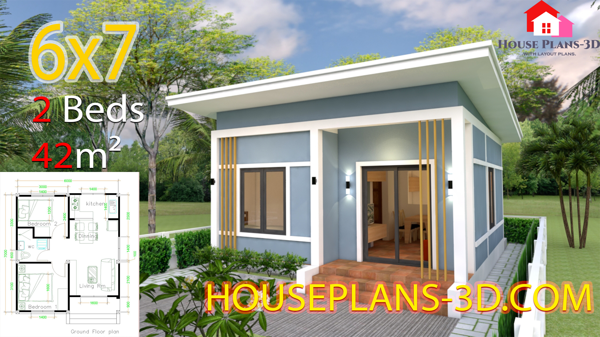 Simple House Plans Bedrooms Shed Roof